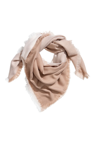 Large scarf - Beige/Block-coloured -  | H&M