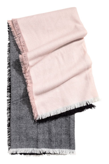 Large scarf - Black/Pink -  | H&M