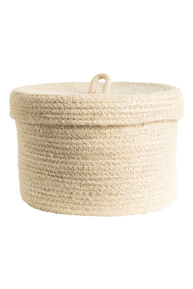 Braided jute basket - Natural white - Home All | H&M CN