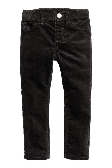 Pantalon en velours - Noir -  | H&M BE