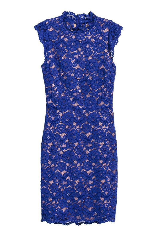 0e26dcc5fefcea Spitzenkleid - Kornblumenblau - Ladies | H&M ...