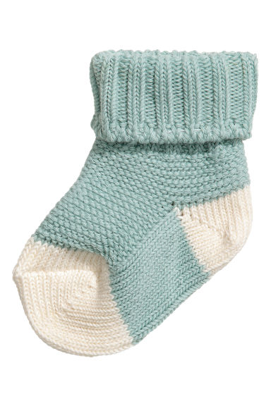 Knitted socks - Turquoise - Kids | H&M CN