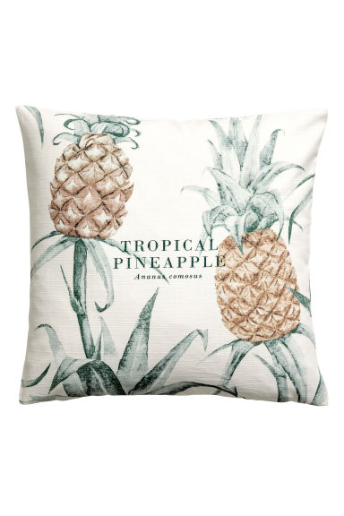 Kussenhoes met motief - Wit/ananas - HOME | H&M BE