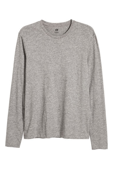 Jersey top Slim fit - Grey marl - Men | H&M