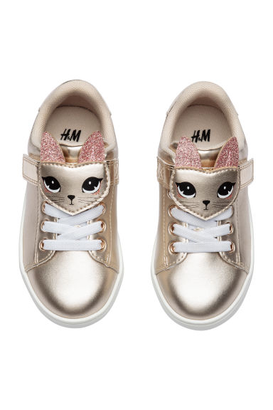 Shimmering metallic trainers - Gold-coloured -  | H&M CN
