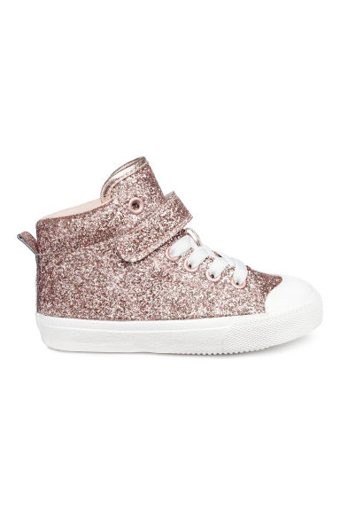 Hi-top trainers - Pink/Glittery - Kids | H&M