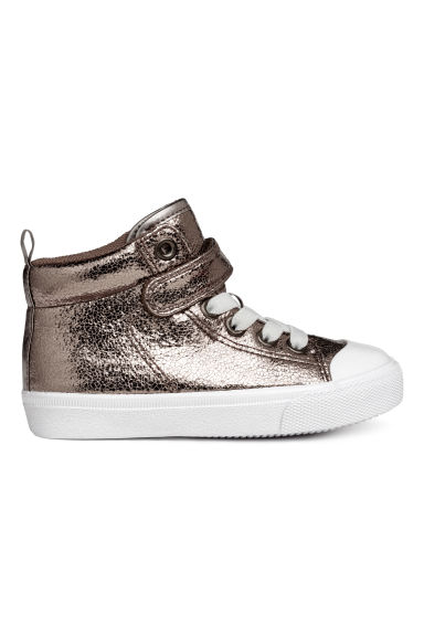 Hi-top trainers - Mole/Metallic - Kids | H&M