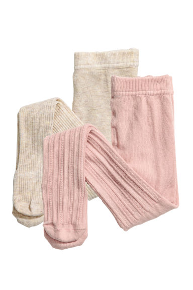 Collants, lot de 2 - Rose -  | H&M CH