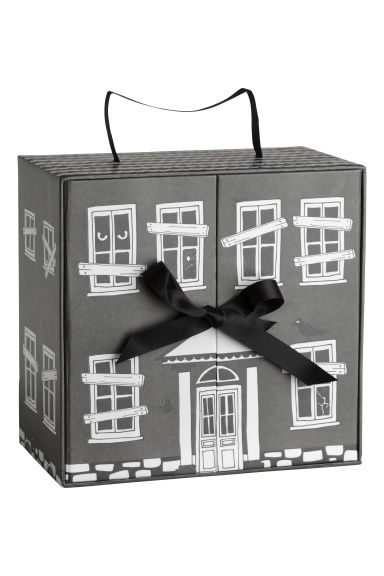 Cardboard doll's house - Dark grey/Patterned - Home All | H&M CN