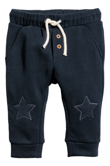Joggers - Dark blue/Stars - Kids | H&M