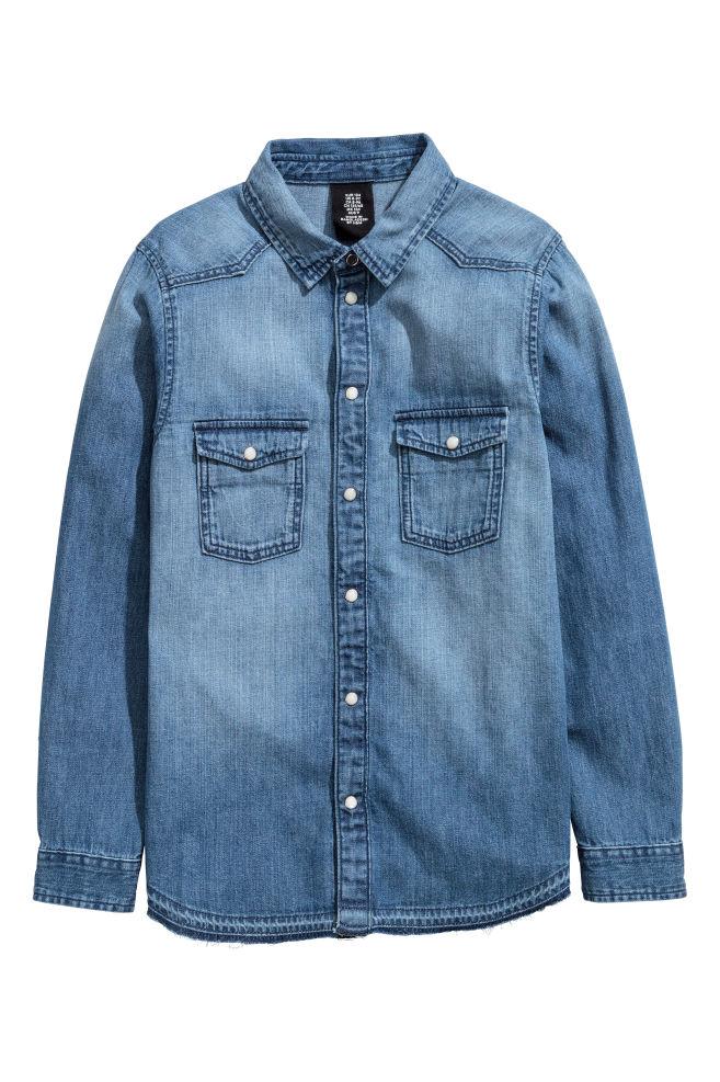 Džínová košile - Denim blue - DĚTI  546db38a64