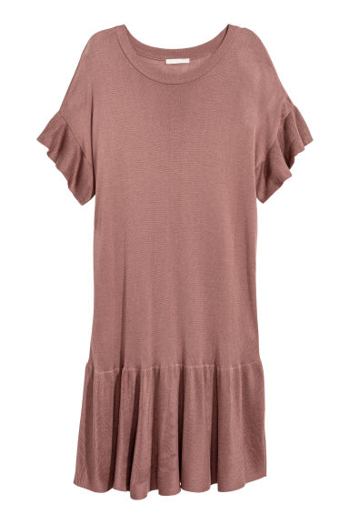 Fine-knit dress - Vintage pink - Ladies | H&M
