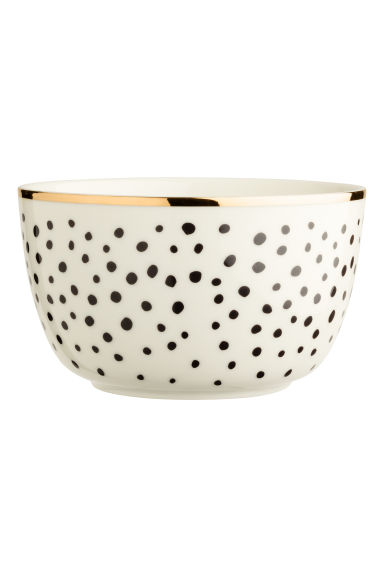 Spotted porcelain bowl - White - Home All | H&M IE