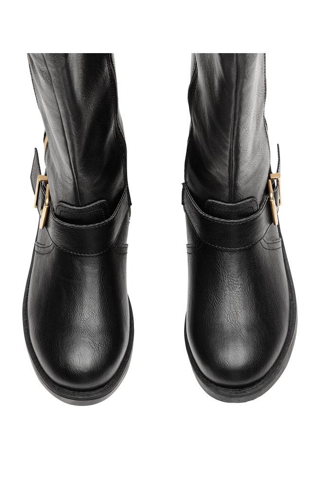 35697050d63 Knee-high biker boots - Black - Kids