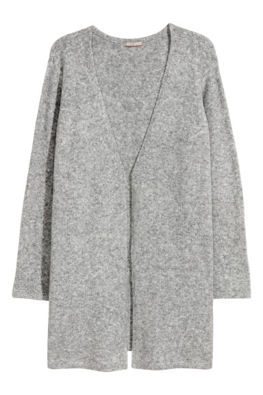 H&M+ Knitted cardigan - Grey marl -  | H&M