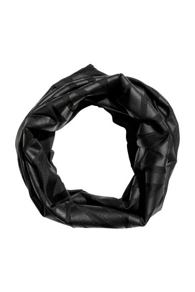 Jersey tube scarf - Black/Patterned -  | H&M