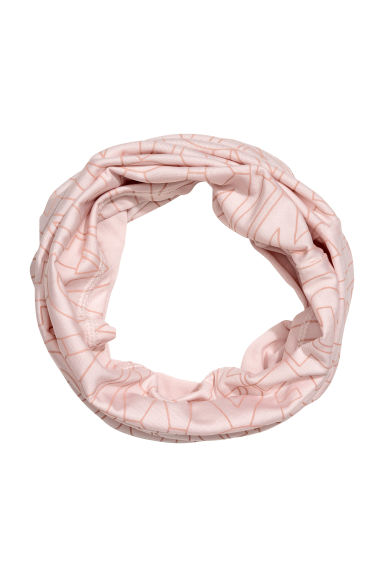 Jersey tube scarf - Powder pink/Patterned -  | H&M