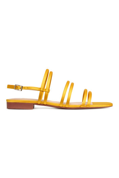 Satin sandals - Yellow -  | H&M