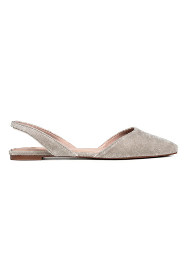Square-toed flats - Light grey - Ladies | H&M