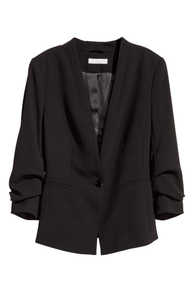 Single-button jacket - Black -  | H&M