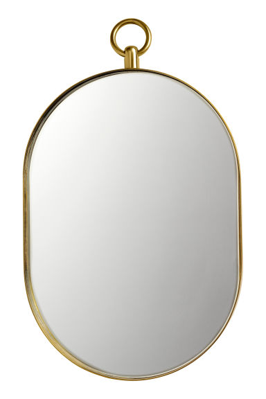 Oval mirror - Gold-coloured - Home All | H&M GB