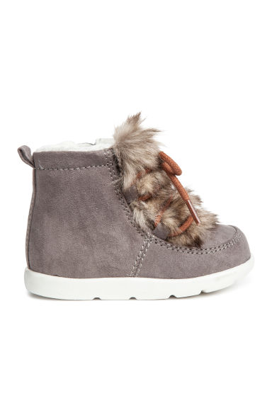 Warm-lined boots - Grey - Kids | H&M CN