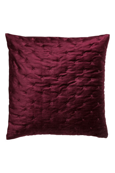 Fluwelen kussenhoes - Bordeauxrood - HOME | H&M NL