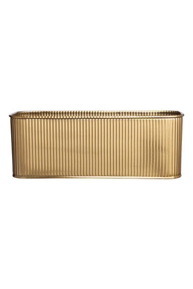Metal storage box - Gold-coloured -  | H&M IE