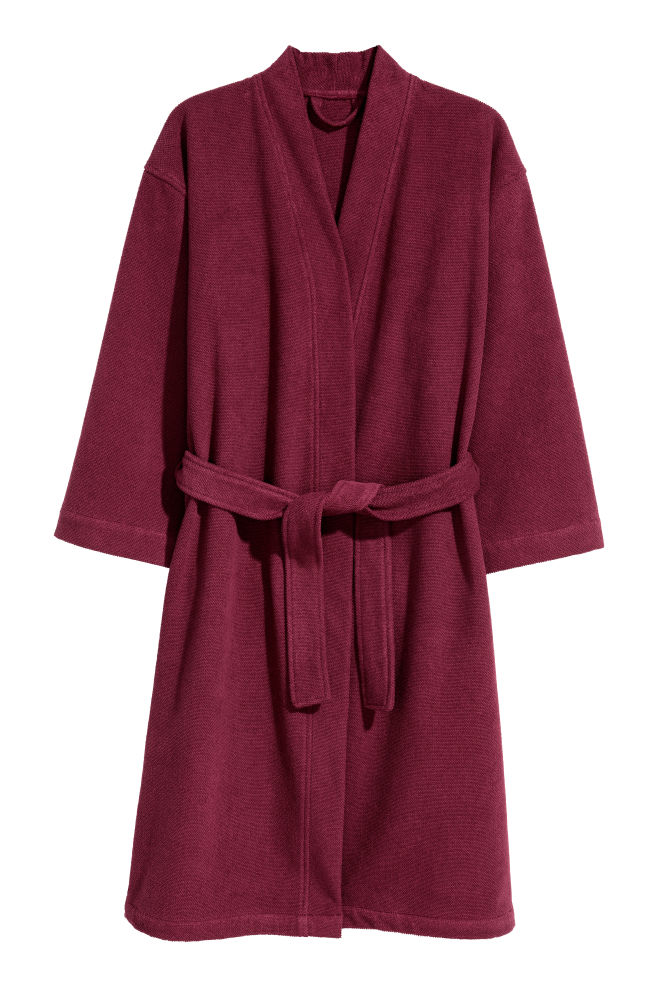 Terry dressing gown - Burgundy - Home All | H&M GB