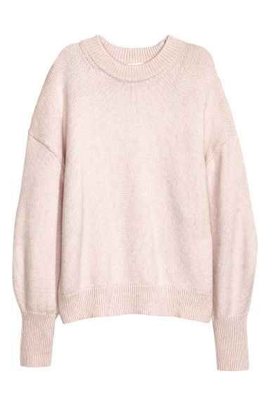 Knitted jumper - Powder pink -  | H&M GB