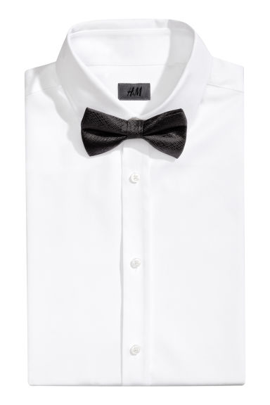 Silk bow tie - Black -  | H&M CN