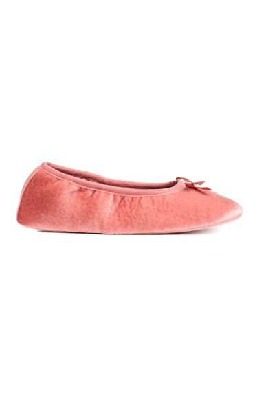 Velvet ballet shoe slippers - Vintage pink - Ladies | H&M IE