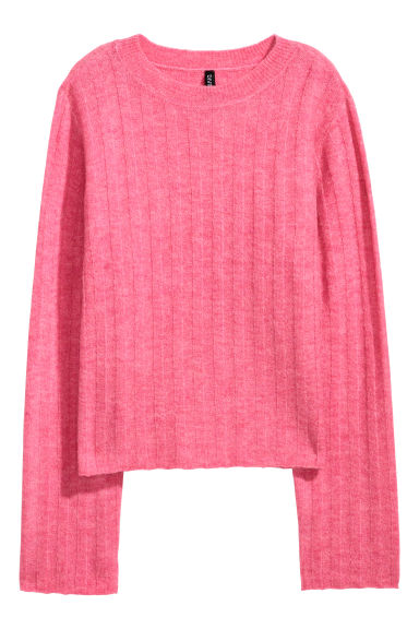 Ribbed jumper - Pink marl - Ladies | H&M GB