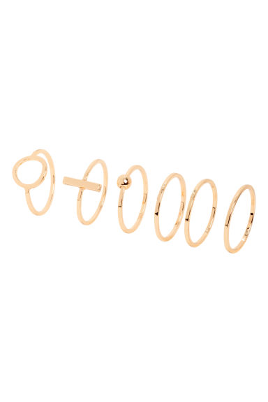 6-pack rings - Gold - Ladies | H&M IE