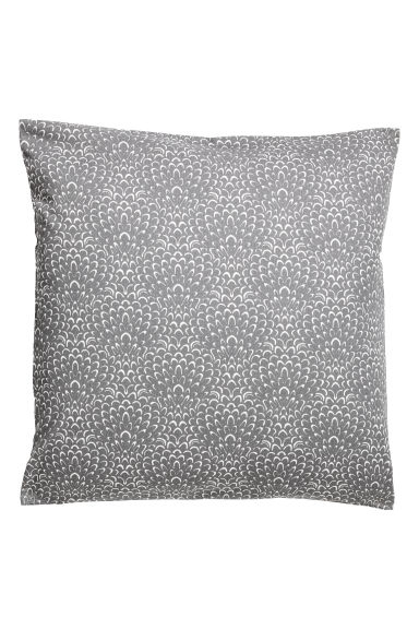 Patterned cushion cover - Grey/Patterned -  | H&M GB