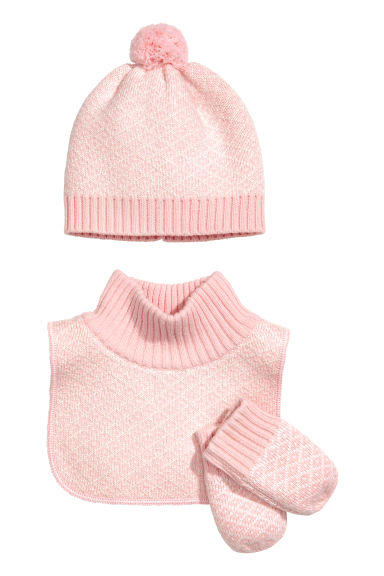 3-piece cotton-blend set - Light pink - Kids | H&M IE