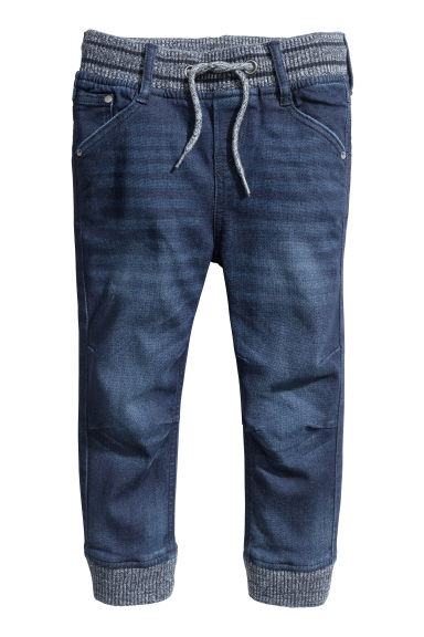 Super Soft denim joggers - Dark denim blue -  | H&M