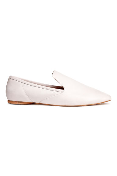 Leather loafers - White -  | H&M
