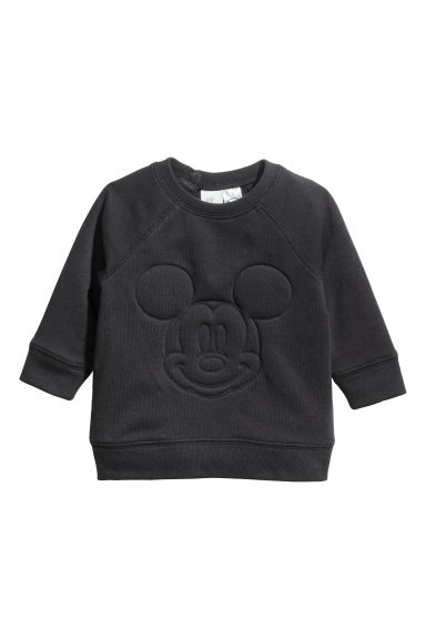 Sweatshirt with a motif - Black/Mickey Mouse - Kids | H&M CN