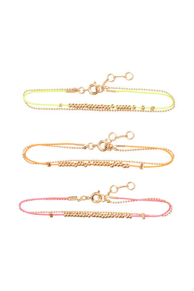 Set van 3 armbandjes - Neon -  | H&M BE