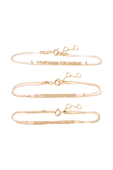 3-pack bracelets - Powder - Ladies | H&M