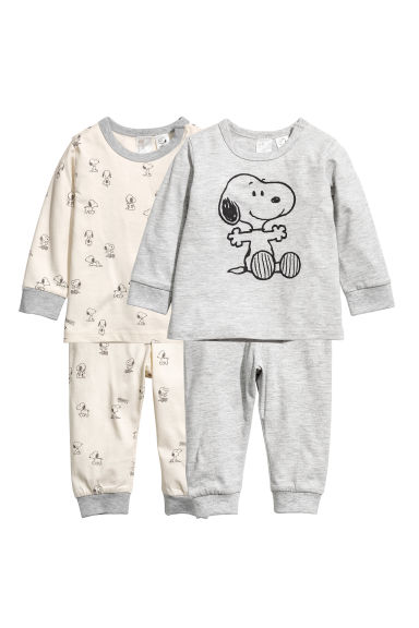2-pack jersey pyjamas - Grey/Snoopy -  | H&M CN