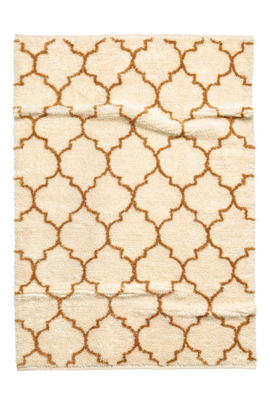 Wool-blend rug - Natural white/Ochre - Home All | H&M CN
