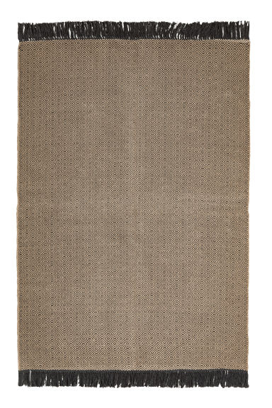 Grand tapis tissé jacquard - Écru/anthracite gris - HOME | H&M BE