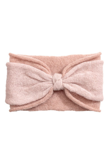 Mohair-blend headband - Powder pink - Ladies | H&M CN