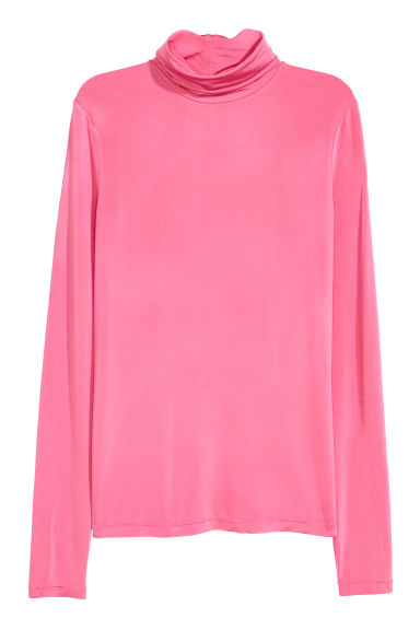 Polo-neck top - Pink - Ladies | H&M CN