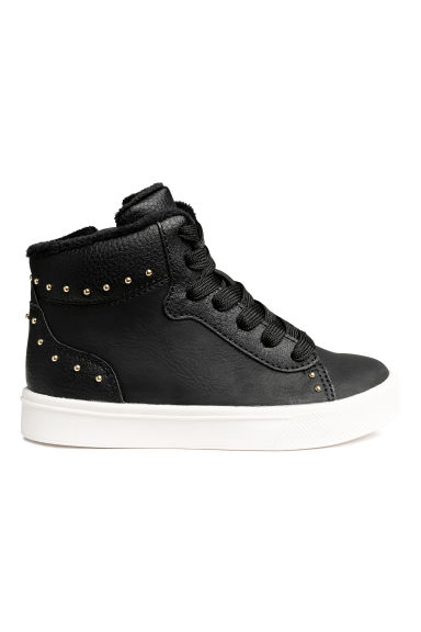 Lined hi-tops - Black - Kids | H&M CN