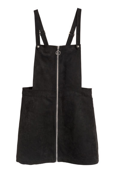 Dungaree dress - Black - Ladies | H&M IE
