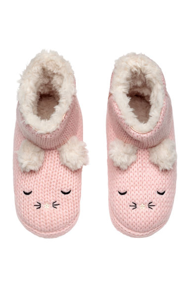 Soft slippers - Light pink -  | H&M