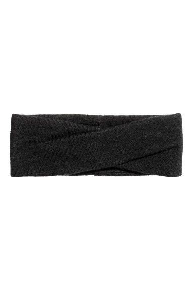 Ribbed headband - Black -  | H&M